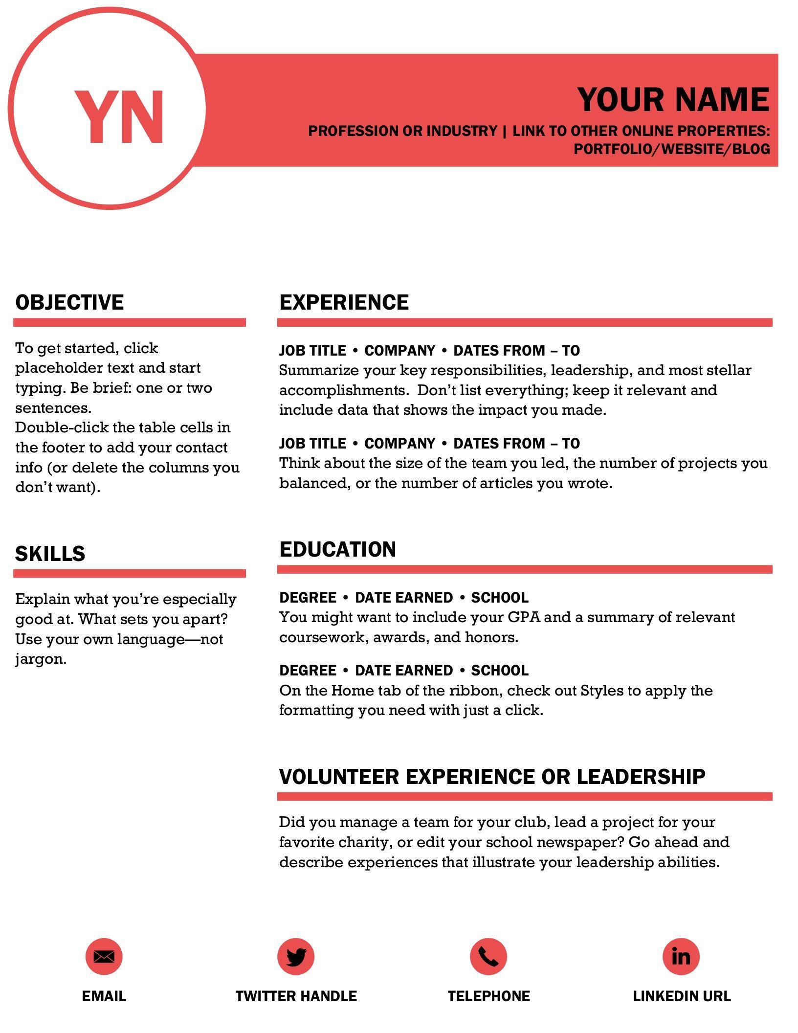 Polished Resume Designed By Moo Microsoft Word Resume Template Resume Design Template Resume Design
