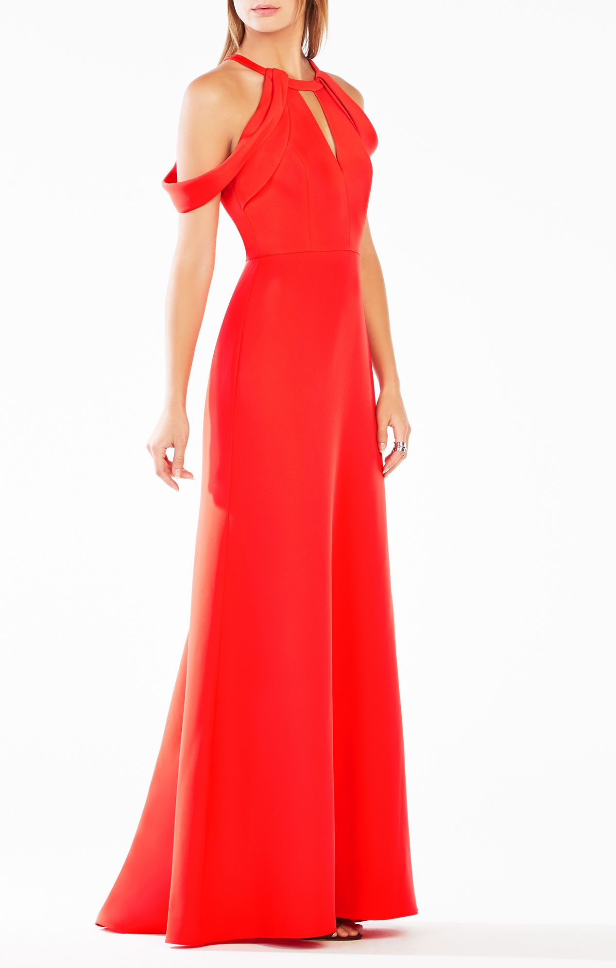 Kathya draped cutout gown fall winter pinterest gowns