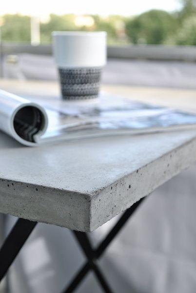 Trädgård trädgård betong : betongbord,betongbordsskiva,balkongbord,gjuta i betong,gjuta ...