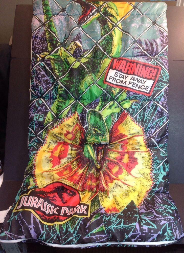 official photos 8baa1 672e2 Details about Jurassic Park Dinosaurs Kids Sleeping Bag T ...