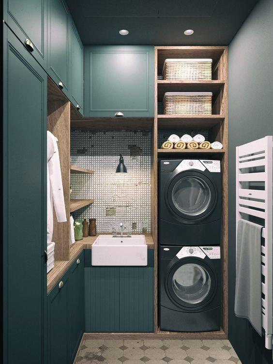 comment installer un lave linge dans une petite salle de bain avec un petit budget salle de. Black Bedroom Furniture Sets. Home Design Ideas