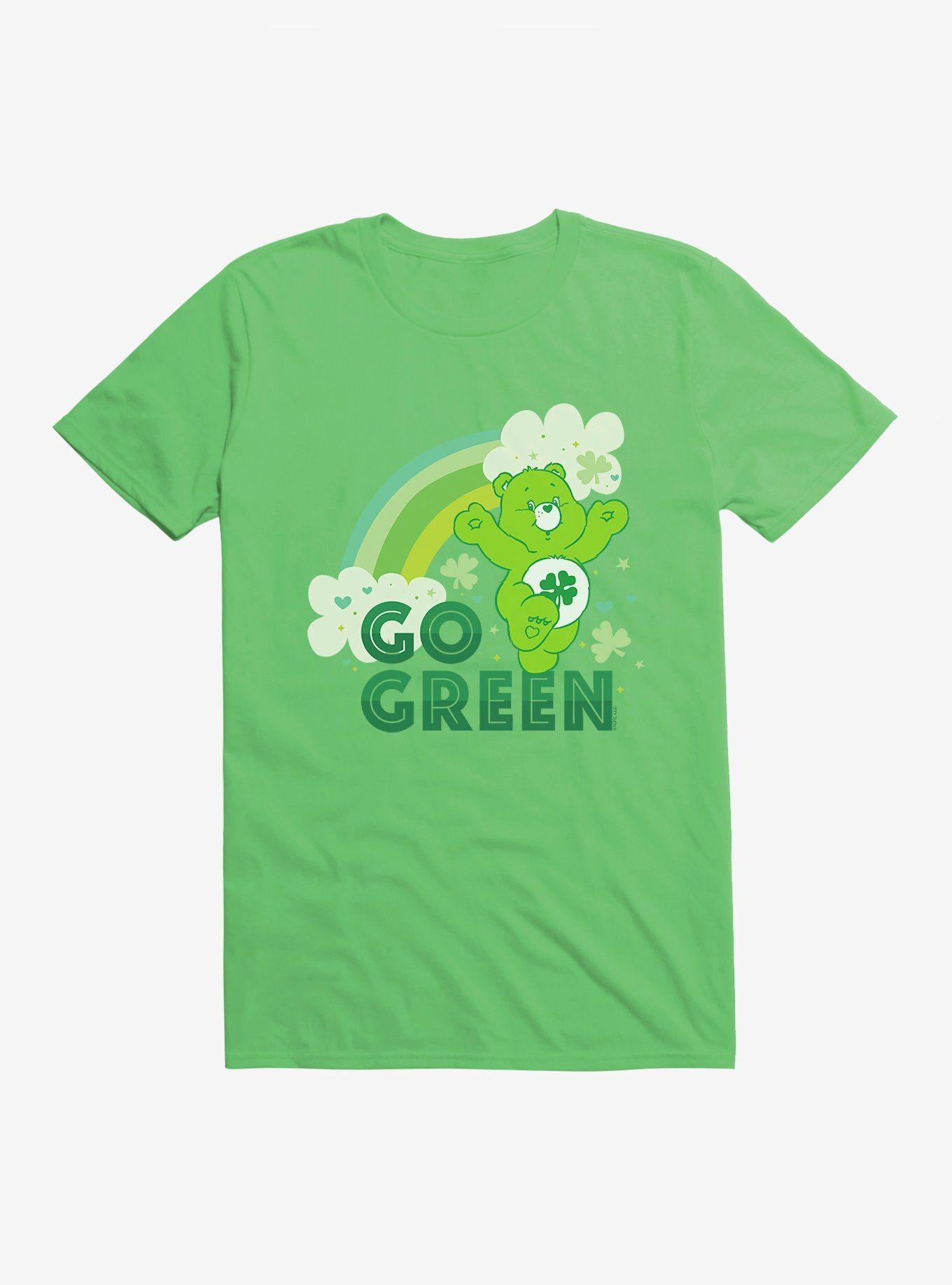 Care Bears Go Green TShirt KELLY GREEN  Long Sleeve Sweatshirt Hoodie