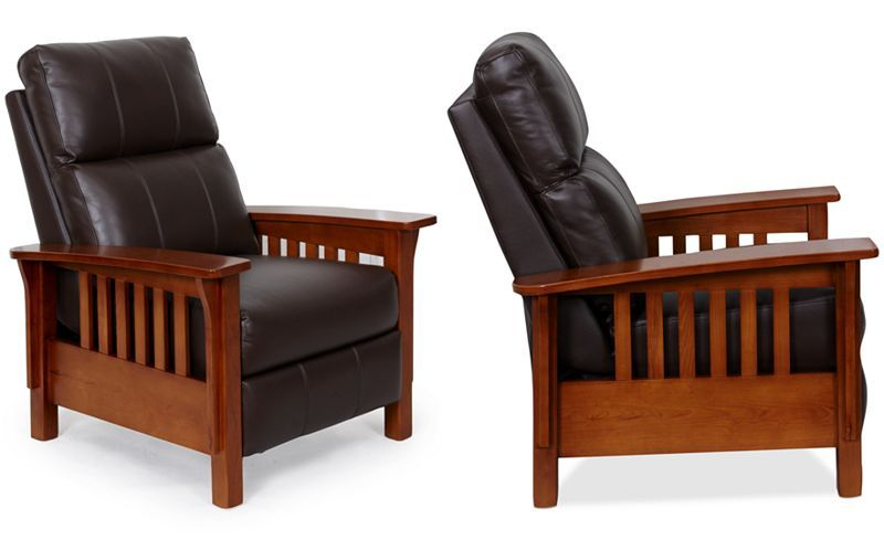 Harrison Leather Pushback Recliner Decisions For House Furniture
