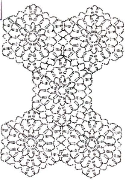 Plaid aux hexagones.