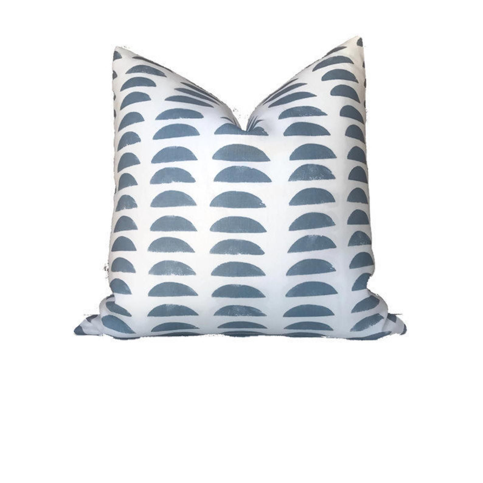 The Hills Pillow Cover In Slate Blue Decorative Throw Pillow Etsy Pillows Pillow Covers Hand Woven Pillows