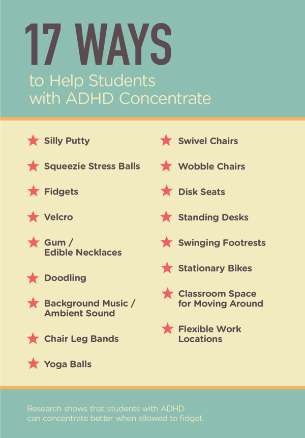 Ways For Students With Adhd To Quietly Fidget  Classroom