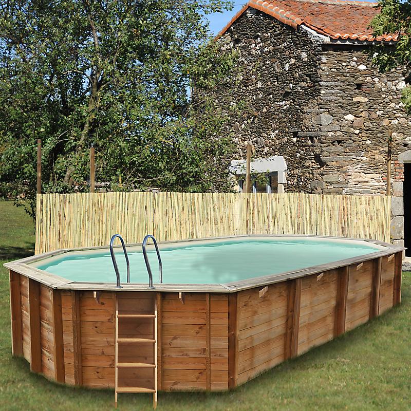 e leclerc piscine bois