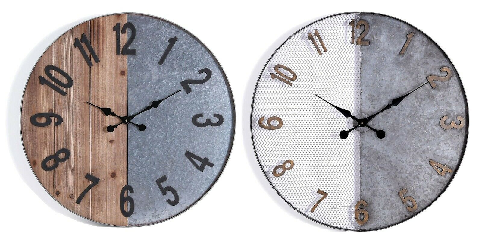 Oversized Wall Clock Round 36 Mesh Metal 28 Half Wood Wall Sculpture Wood Clock Ideas Of Wood Clock Woodclock Cl Oversized Wall Clock Wood Clocks Clock