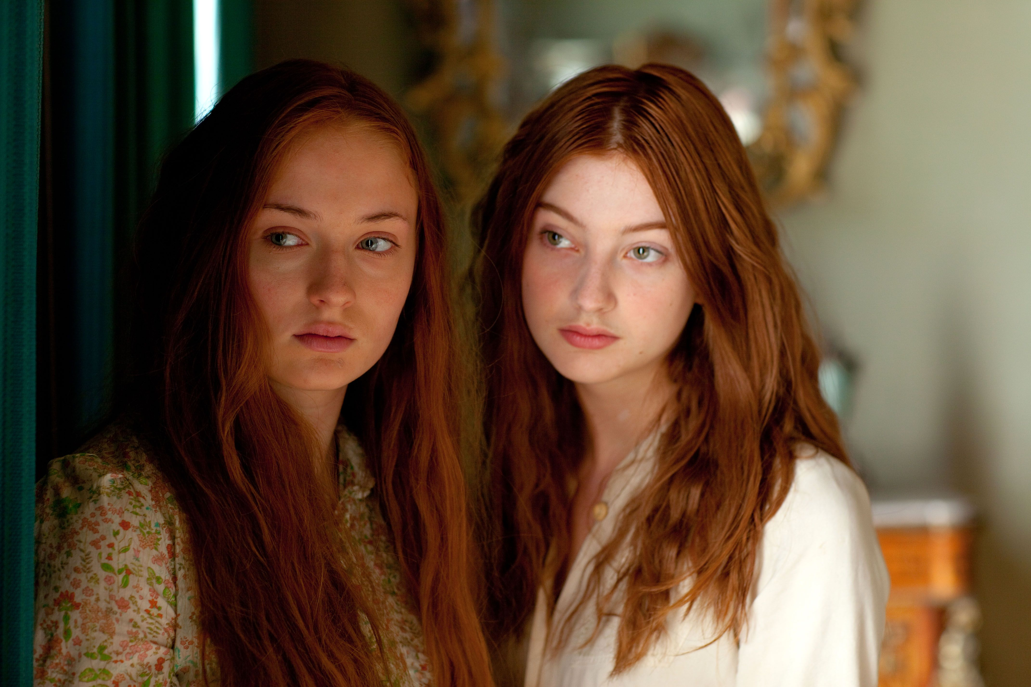 Sophie Turner and Antonia Clarke still from 'The Thirteenth Tale' 2013