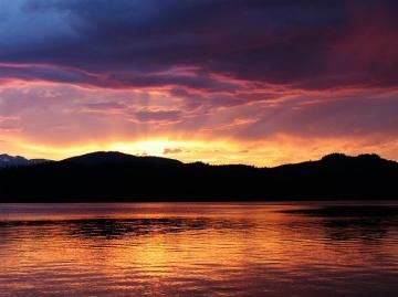 Sunset Over Lakelse Lake In Northern Bc Sunset West Coast Canada Lake
