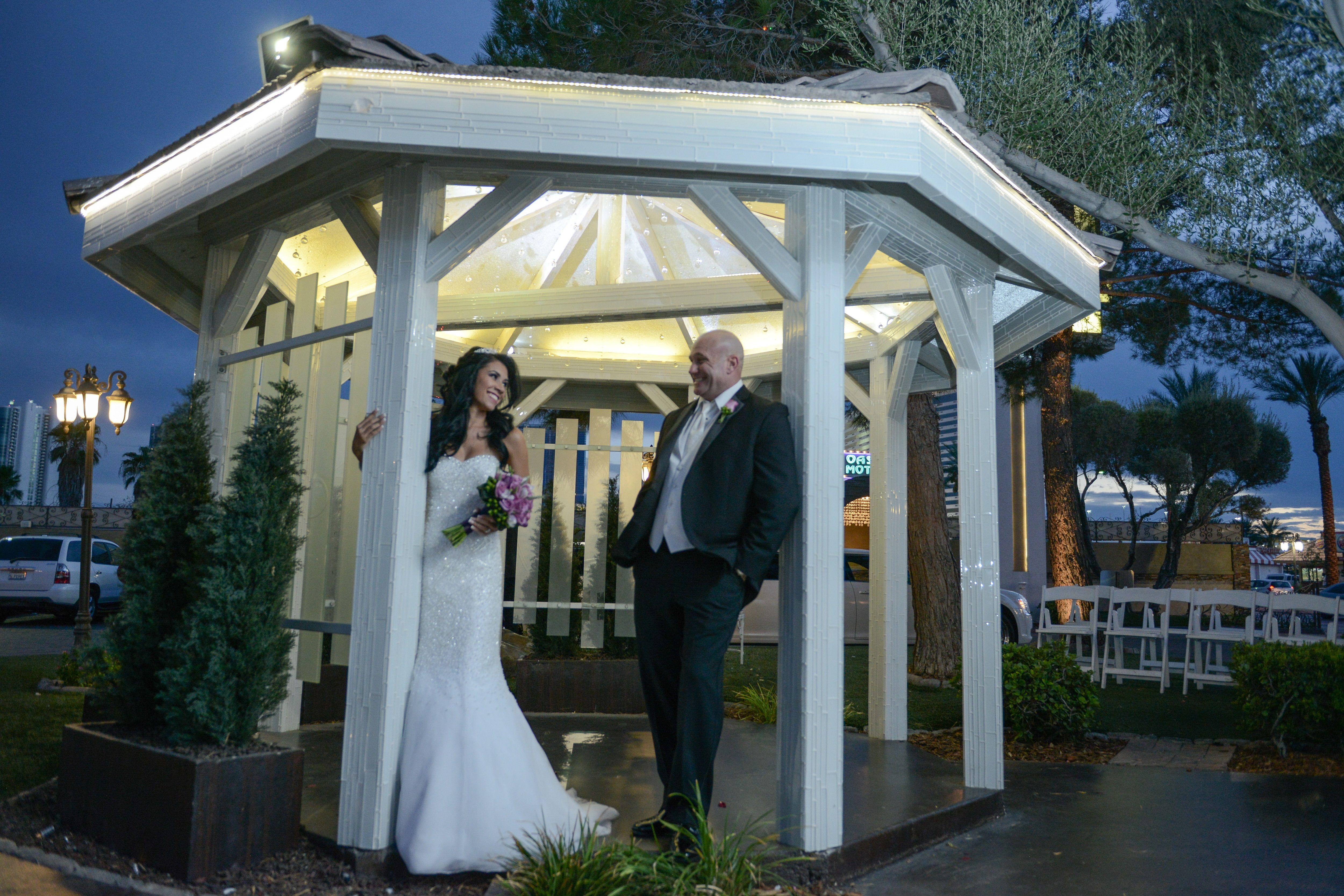 Chapel of the Flowers Garden Gazebo Las Vegas Wedding