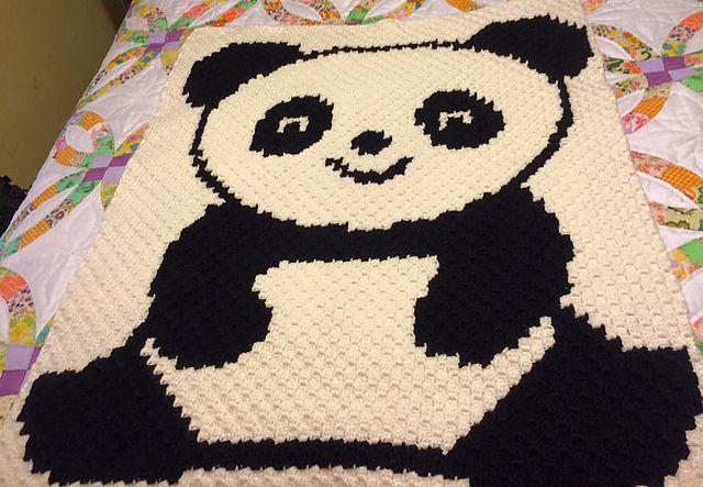 Ravelry C2c Panda Pattern By Tana Whitney Crochet Panda