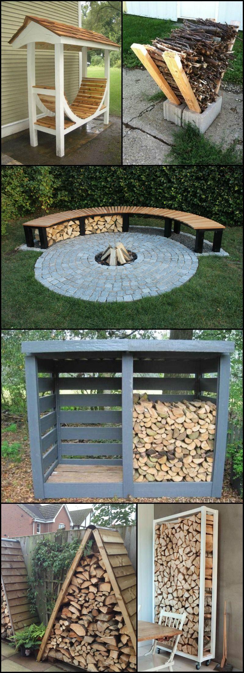 Firewood Storage Ideas The Owner Builder Network Hintergarten Feuerstelle Garten Feuerstellen Sitz