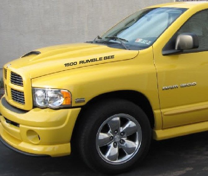 Dodge ram 1500 rumble bee hood decals ebay motors parts for Ebay motors commercial truck parts