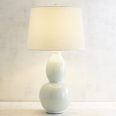 Here S The Perfect Lamp To Add A Touch Of Classic Style To Your Home Our Primavera Lamp Features A Ceramic Base Cast In A Ser White Table Lamp Table Lamp Lamp