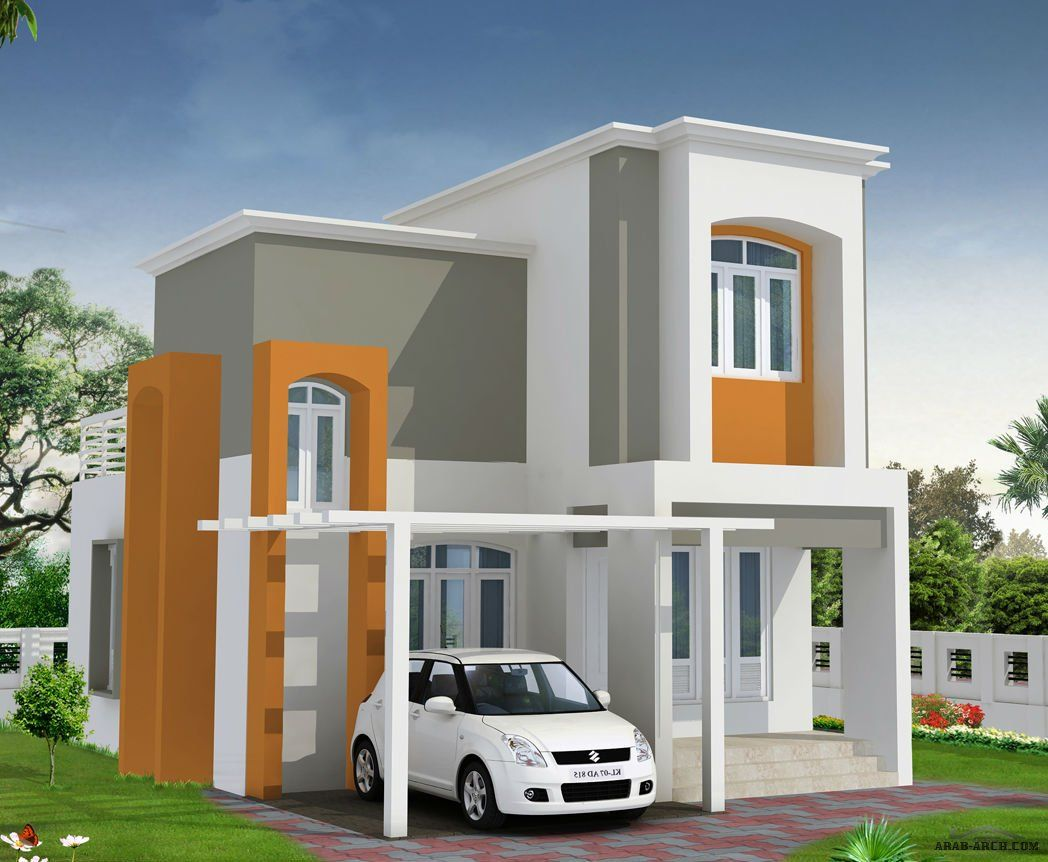 فيلا تصميم مودرن صغيرة المساحه بتراس علوى خلفى كبير Dream House House Outdoor Structures