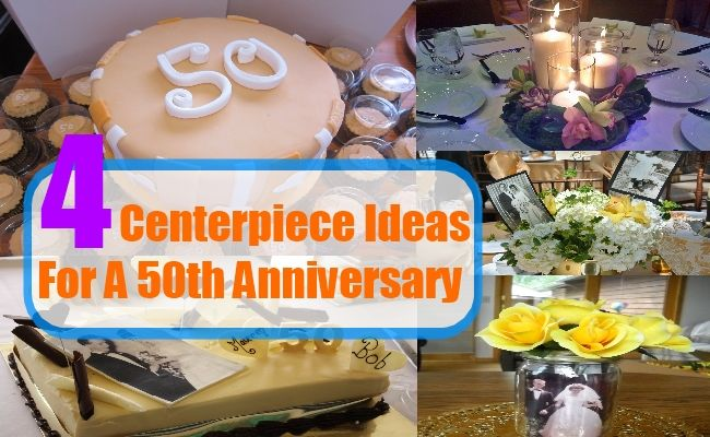 4 homemade centerpiece ideas for a 50th anniversary for 50th anniversary decoration ideas homemade