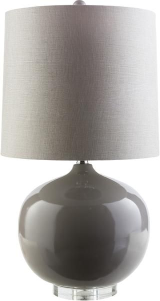 Colt Table Lamp In Dark Grey Table Lamp Base Resin Shade Outside