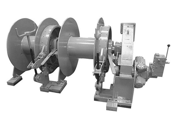As its name suggests, double drum mooring winch is a winch with double drums used for mooring work http://ellsenmarinewinches.com/double-drum-mooring-winch/.