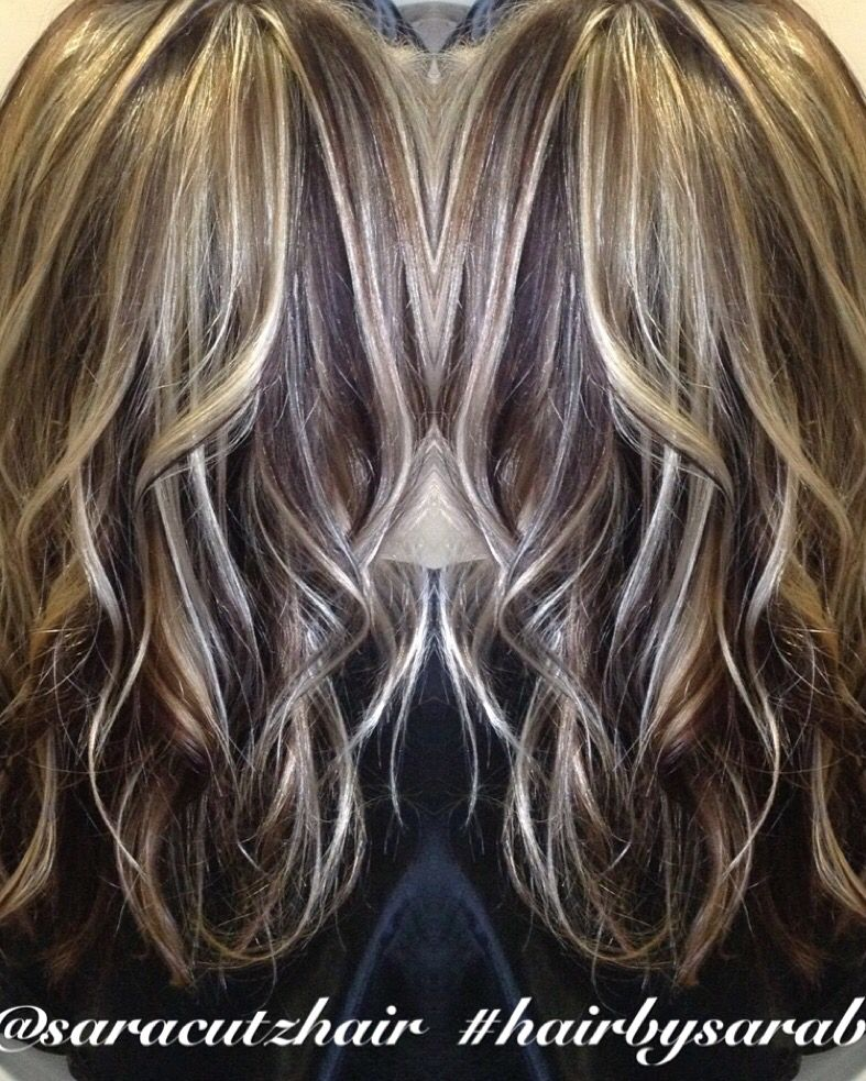 Dramatic Blonde And Brown Hair Highlights Lowlights Curls Texture