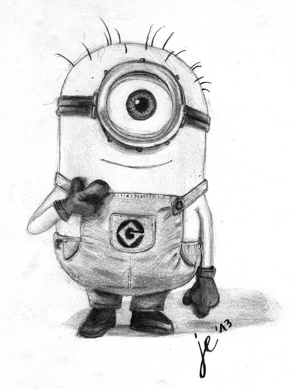 Drawings of minions minion freehand drawing by zackbag on deviantart