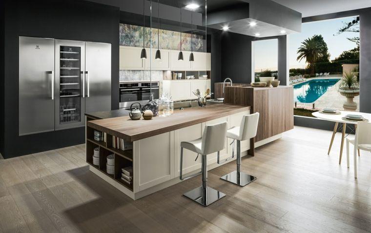 Arredamento Cucina Acciaio.Arredamento Moderno Idee Per Cucine In Muratura Con