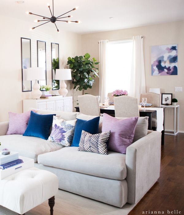 Living And Dining Room  Arianna Belle One Room Challenge Reveal Adorable How To Organize A Small Living Room Design Inspiration