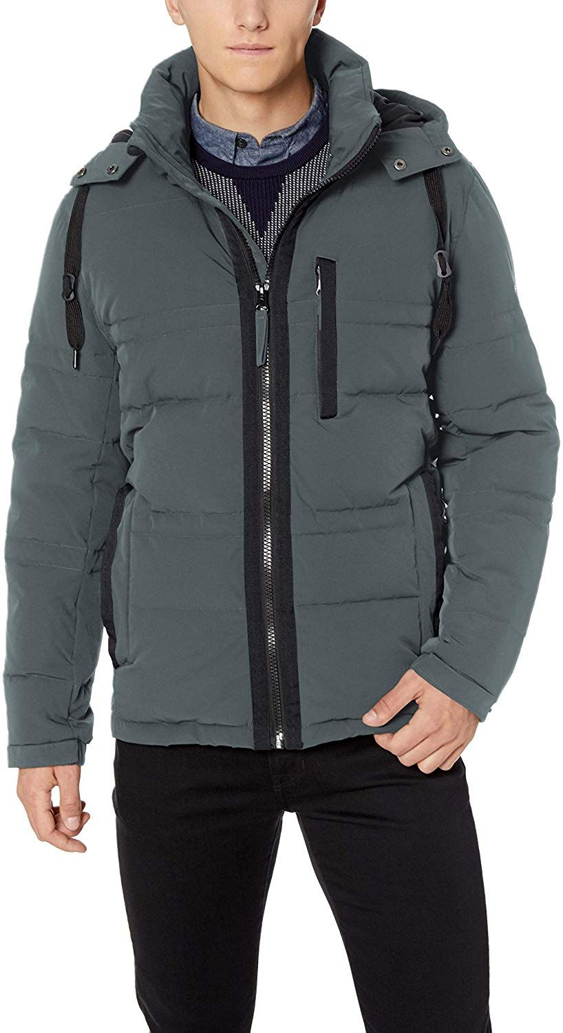 Marc New York by Andrew Marc mens Huxley Mid Length Hooded Jacket