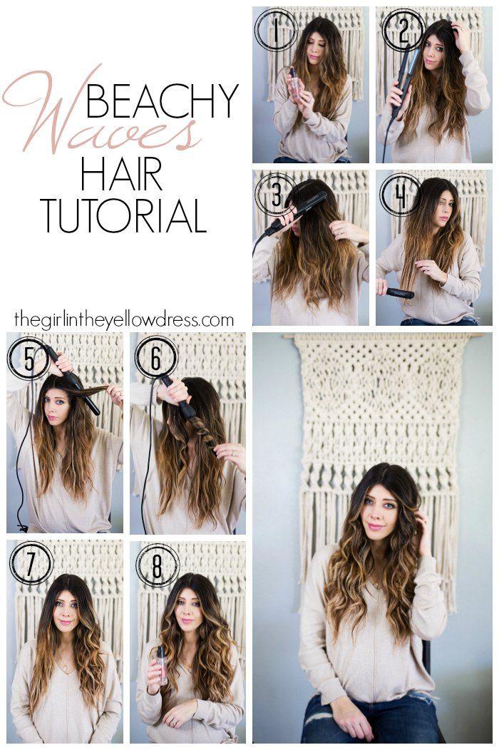 Beachy Waves Hair Tutorial Beach Waves Hair Tutorial By Popular San Diego Style Blog In 2020 Wavy Hairstyles Tutorial Waves Hair Tutorial Beachy Waves Hair Tutorial