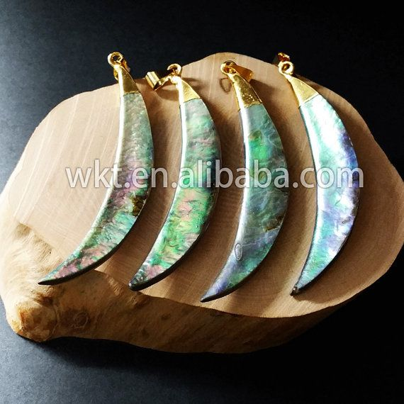 Wt p522 wholesale natural abalone shell pendants long tusk window wt p522 wholesale natural abalone shell pendants long tusk aloadofball Image collections