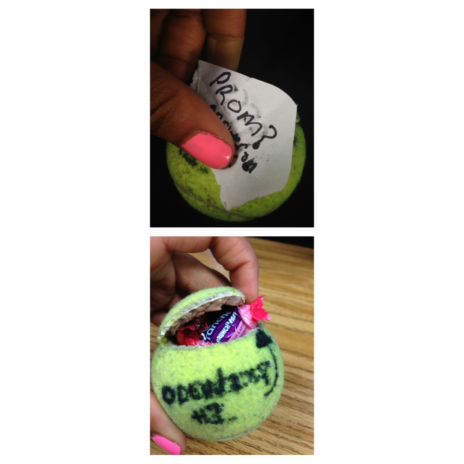 Cute Tennis Candy Prom Proposal