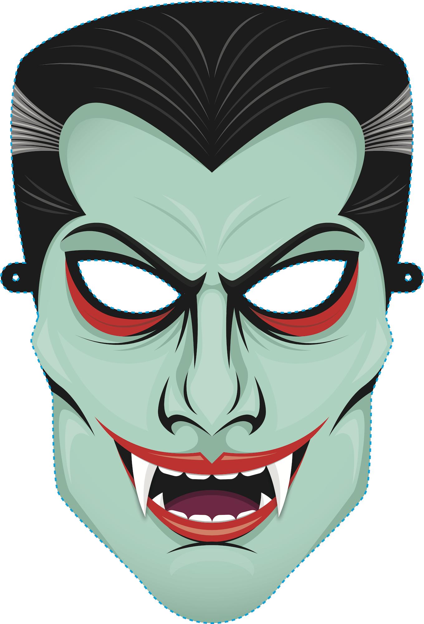 Download Vampire Mask For Free Printable Halloween Masks