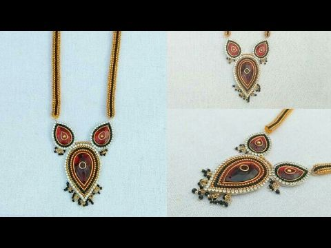 How To Make Silk Thread Necklace How To Make Designer Necklace