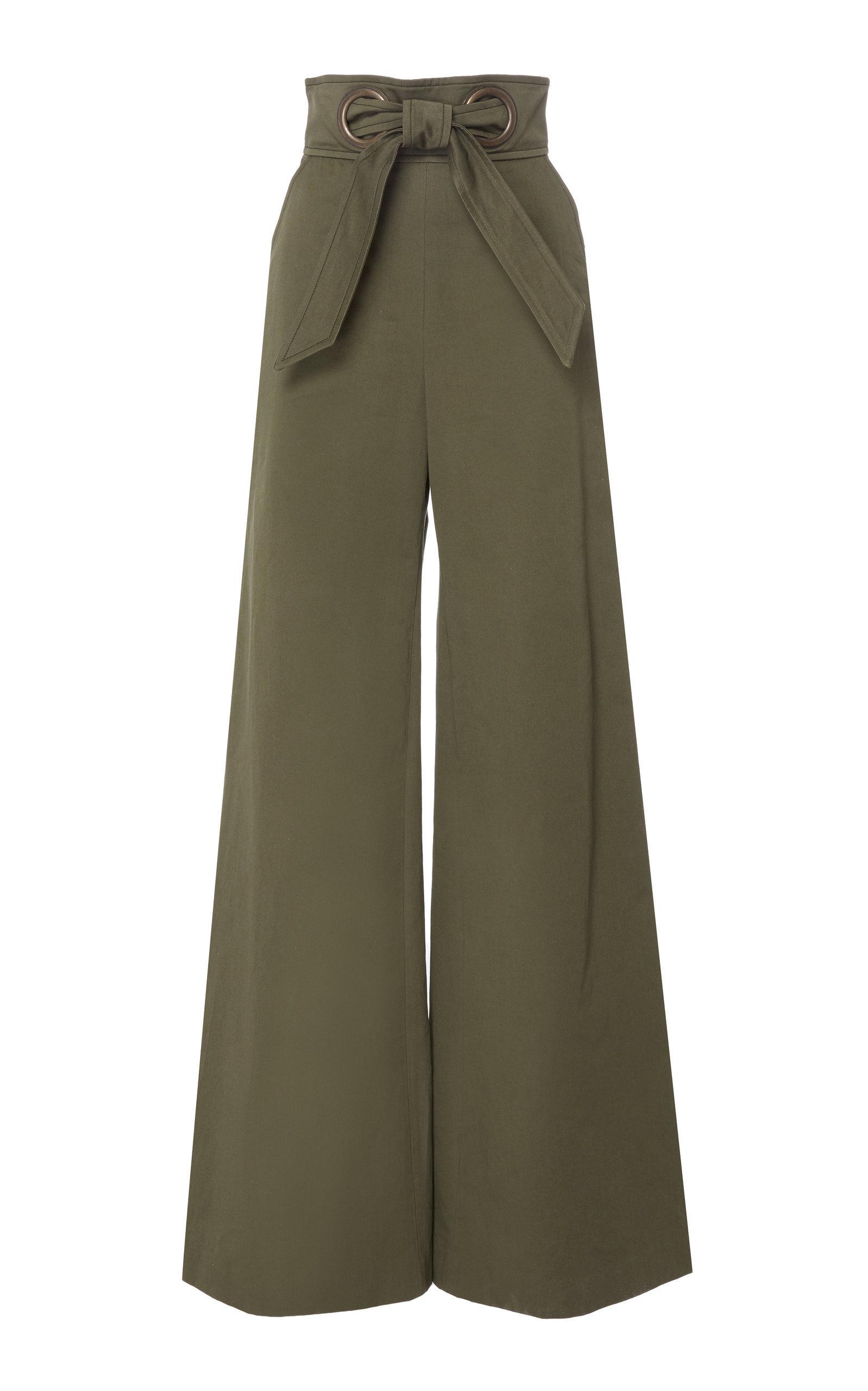 Knotted Wide Leg Cotton Trouser By Martin Grant For Preorder On Moda Operandi Fashion Pants Stylish Pants Fashion