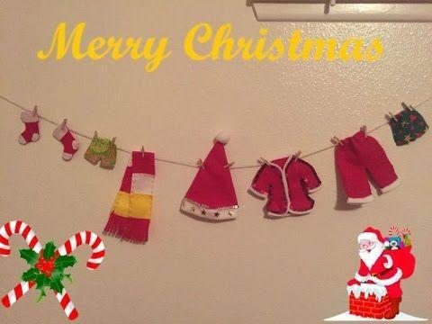 Manualidades de navidad tendederos de ropa de santa claus - Tendederos de ropa ...