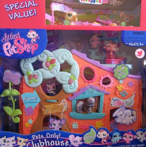 Littlest Pet Shop Pets Only Clubhouse W 4 Exclusive Pets By Hasbro 129 13 Product Description Includes Little Pet Shop Toys Pet Shop Lps Littlest Pet Shop