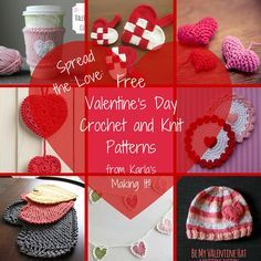 Spread the Love Valentine's Day Free Crochet and Knit Patterns from Karla's Making It