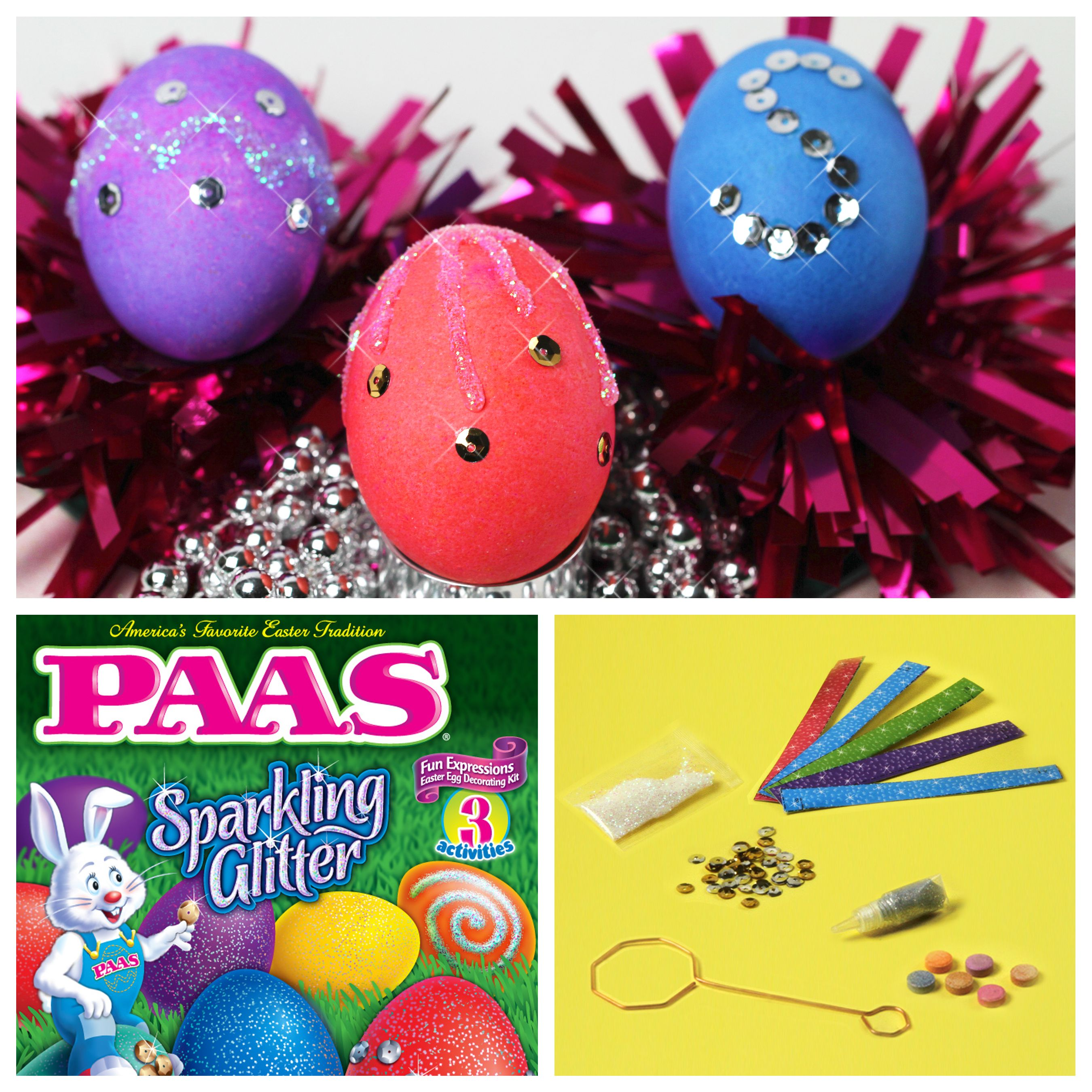 Sparkling Glitter easter egg decorating kit from PAAS