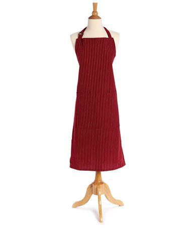 Love this Red Pinstripe Oversize Apron - Adult on #zulily! #zulilyfinds