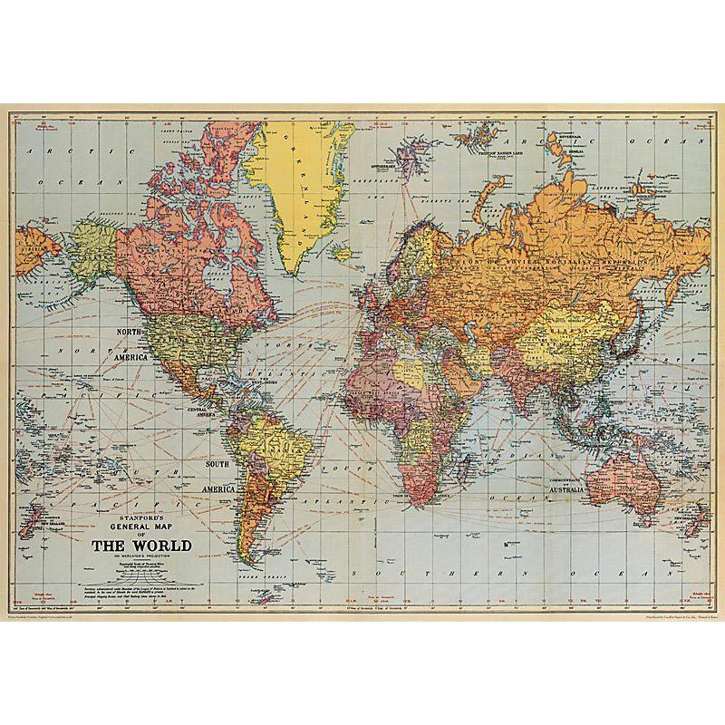 Affiche Carte du Monde. Poster, papier cadeau, une belle