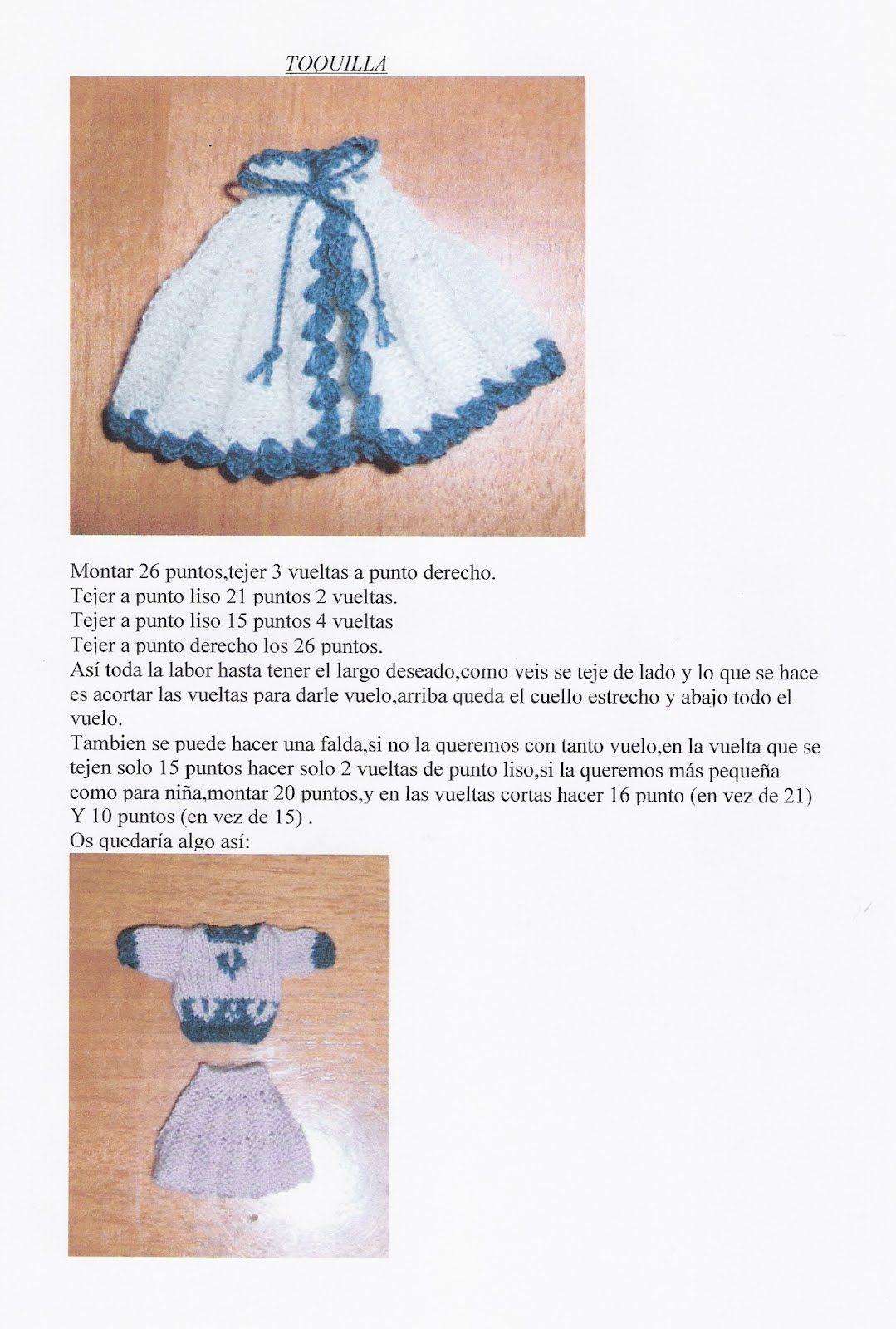 Miniaturas en mi mundo: TOQUILLA O FALDA | BLYTHE PATRONES ...
