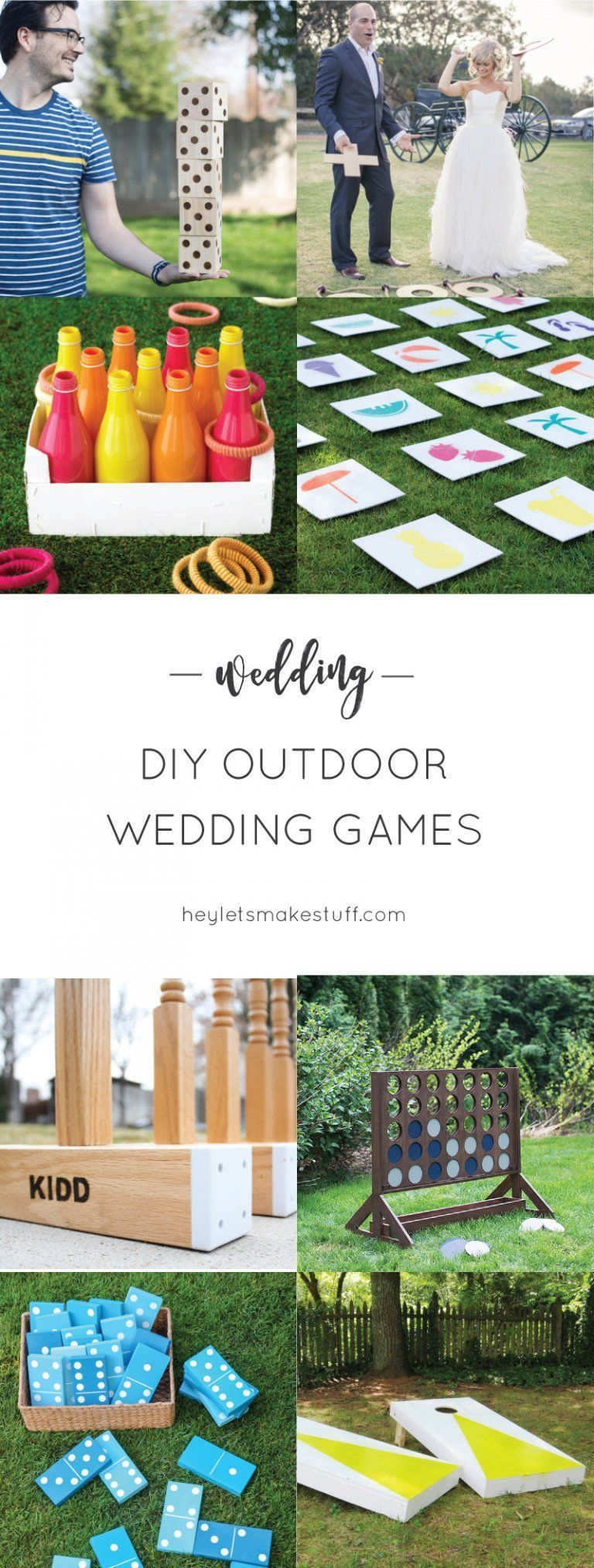 DIY Outdoor Wedding Games If you're having an outdoor wedding, lawn games are a fun way to make sure your guests are totally entertained! Great for cocktail hours and receptions. #thegreatoutdoors