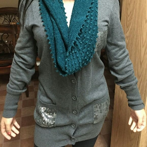 Long cardigan Perfect condition gray cardigan perfect for leggings. a.n.a Sweaters Cardigans