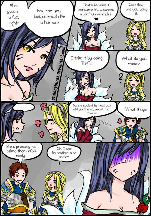 Ahri N Demacian Siblings Lol League Of Legends League Of Legends Comic League Of Legends Memes