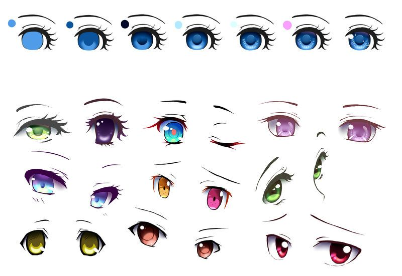 Anime eyes tutorial by serofima