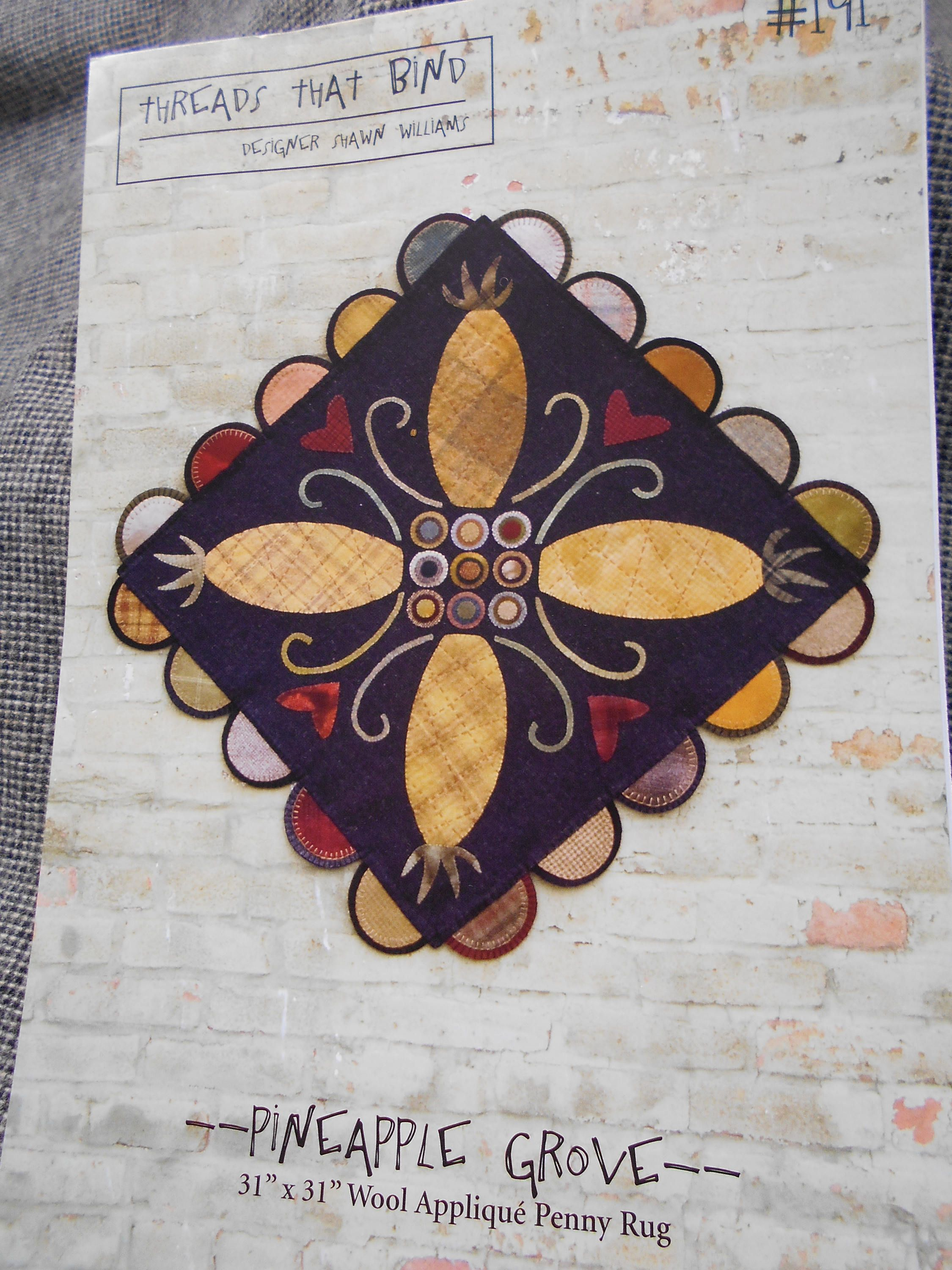 Pinele Grove Wool Lique Penny Rug Pattern By Threads That Bind Mylilcraftroom On Etsy