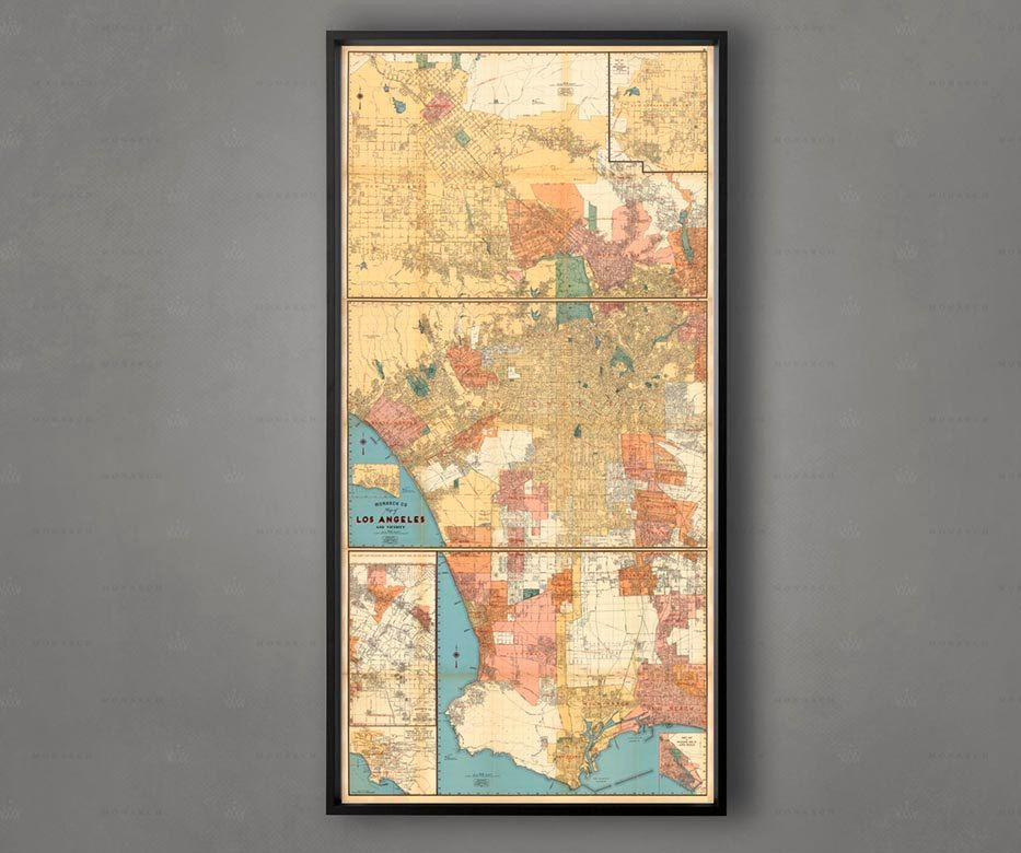 LOS ANGELES Map, City Map of LA California, Hollywood Map, Beverly ...