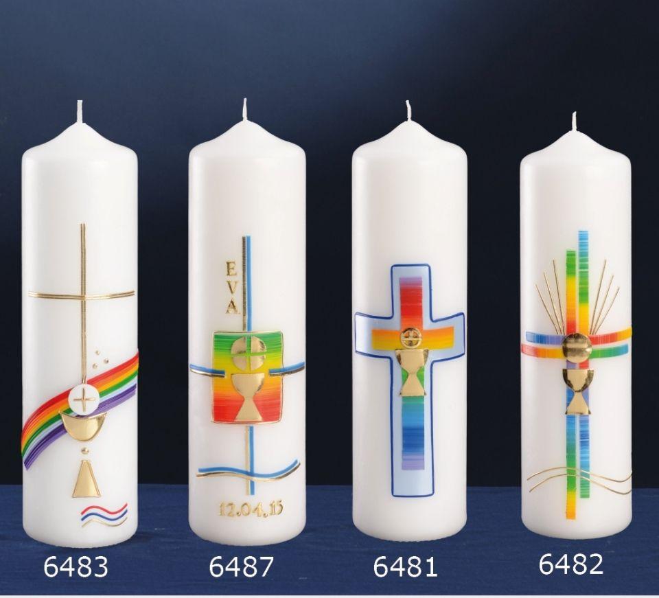 Kerzen Online Gestalten.Pin Von Christiane Schlereth Auf Kommunionkerzen Kerzen