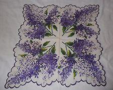 Vintage Hanky Hankie Handkerchief Lilacs