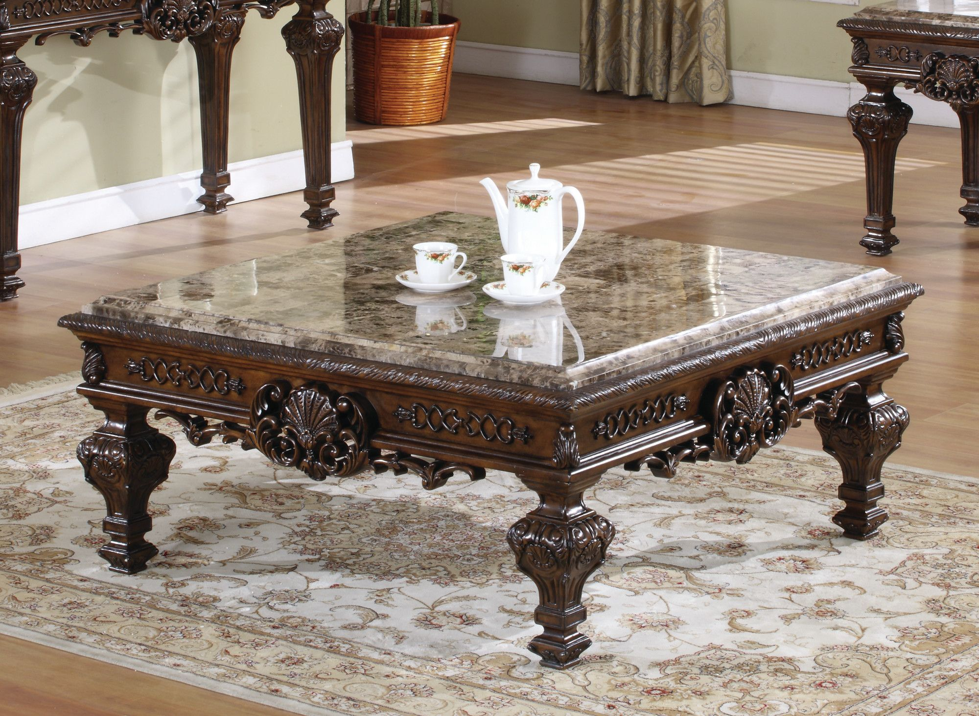 Square Coffee Table Traditional Coffee Table Coffee Table Wood Coffee Table [ 1463 x 2000 Pixel ]